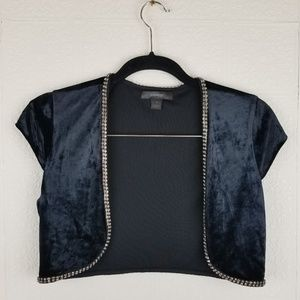 Express velvet crop vest